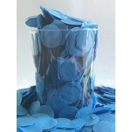 Confetti Blue Tissue Circles 2cm Round