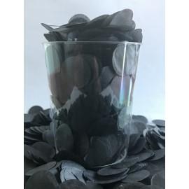 Confetti Black Tissue Circles 2cm Round