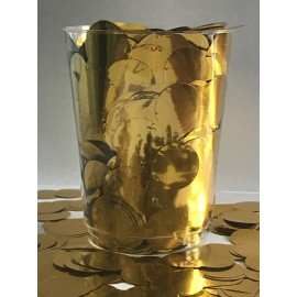 Confetti Gold Metallic Circles 2cm Round