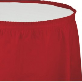 Classic Red Table Skirt Plastic