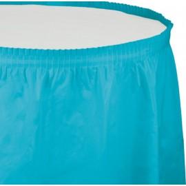 Bermuda Blue Table Skirt Plastic