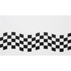 Black & White Check Tablecover Paper
