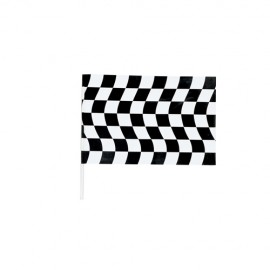 Black & White Checkered  Jumbo Flag
