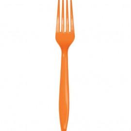 Sunkissed Orange Forks Plastic