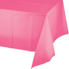 Candy Pink Tablecover Plastic