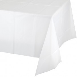 White Tablecover Plastic