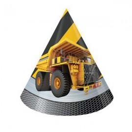 Construction Birthday Zone Hats