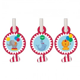 Circus Time Blowouts with Medallions