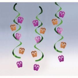 Dizzy Danglers Flip Flops Hanging Swirls
