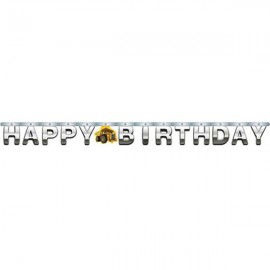 Construction Birthday Zone Large Jointed Banner,