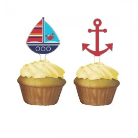 Ahoy Matey Cupcake Toppers