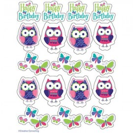 Owl Pal Birthday Stickers, Value