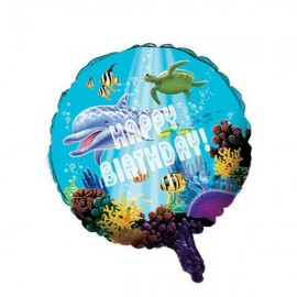 Ocean Party  45cm Metallic Balloon Round Foil Balloon