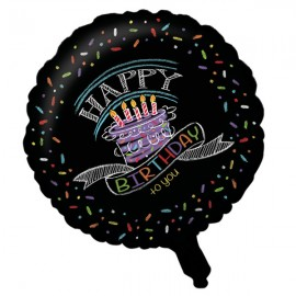 45cm Chalk Happy Birthday to You Foil Balloon