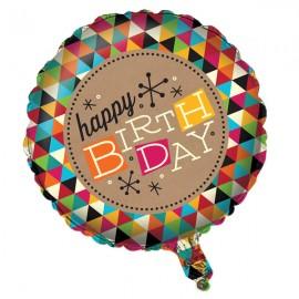 45cm Happy Birthday Kraft Design
