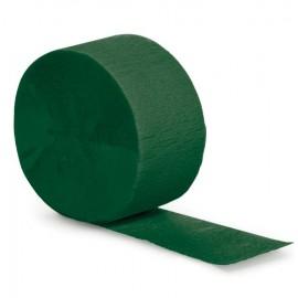 Hunter Green Crepe Streamer