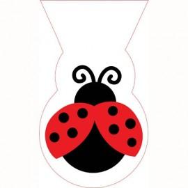 Ladybug Fancy Cello Shaped Bag