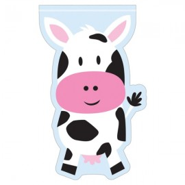 Farmhouse Fun Shaped Loot Bags Cow Design