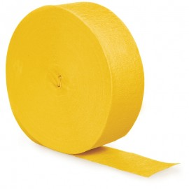 School Bus Yellow Crepe Streamer