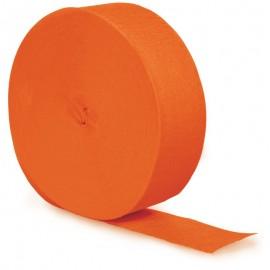 Sunkissed Orange Crepe Streamer