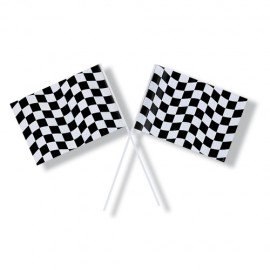 Black & White Checkered Flag Plastic