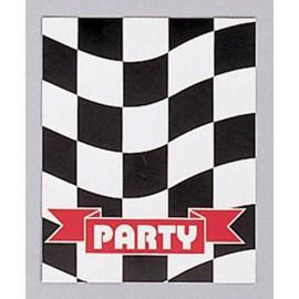 Black & White Checkered Invitations