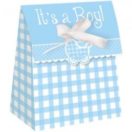 Gingham It's A Boy Favor Bags,