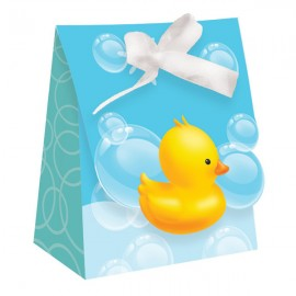 Bubble Bath Baby Favor Bags with Ribbon