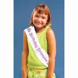 Sash, Plastic Birthday Princess