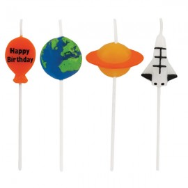 Space Blast Pick Candles Happy Birthday