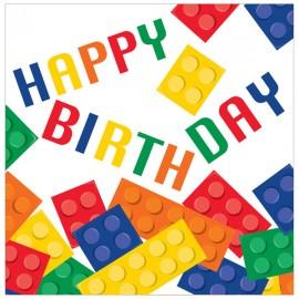 Block Party Luncheon Napkins Happy Birthday