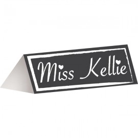 Chalkboard Placecards & 1 piece of Chalk