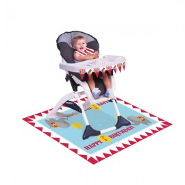 Circus Time High Chair Kit 1st Birthday Plastic