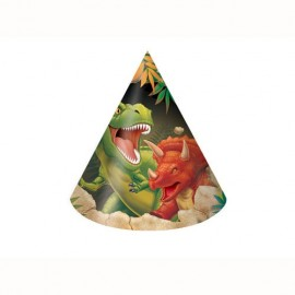 Dino Blast Party Hats Cone Shaped