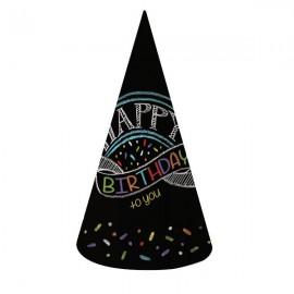 Chalk Birthday Happy Birthday to you Cone Hats