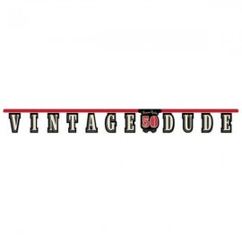 Vintage Dude 50th Birthday Jointed Banner