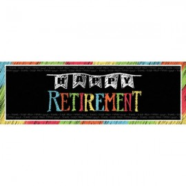 Happy Retirement Chalk Design Giant Banner