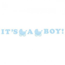 Ribbon Banner, Gingham Boy