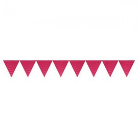 Flag Banner, Paper with Dots Classic Red