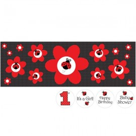 Ladybug Fancy, Party Banner, Giant