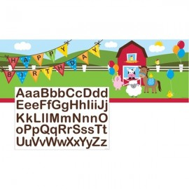 Farmhouse Fun Giant Party Banner Plastic