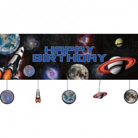 Space Blast Giant Party Banner Happy Birthday