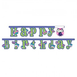 Owl Pal Birthday Jointed Banner, Large