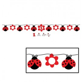 Ladybug Fancy Circle Ribbon Banner