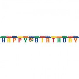 Block Party Banner Jointed Happy Birthday