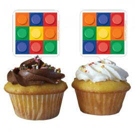 Block Party Cupcake Toppers - Picks
