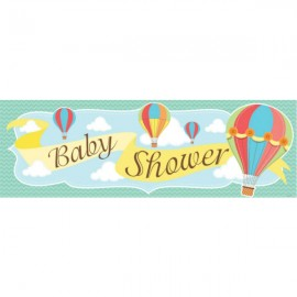 Baby Shower Hot Air Balloons Giant Party Banner