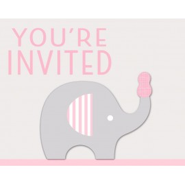 Little Peanut Girl Invitations You're Invited 3D