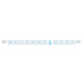 Little Peanut Boy Ribbon Banner Welcome Baby