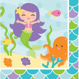 Mermaid Friends Luncheon Napkins